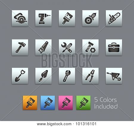 Tools Icons The vector file includes 5 color versions for each icon in different layers ----