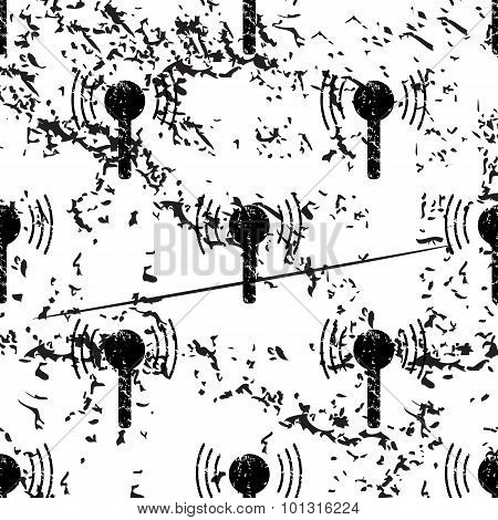 Signal beacon pattern, grunge, monochrome