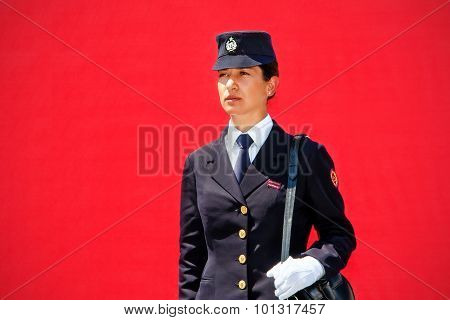 Historical Uniform Woman Police
