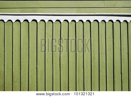 Green Wooden Fence