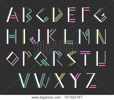 Modern alphabetic fonts