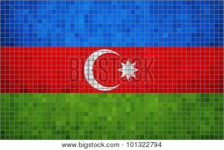 Abstract Mosaic Flag Of Azerbaijan
