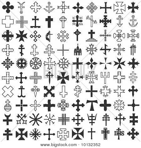 Catholic cross tattoos symbol
