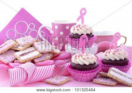 Pink Ribbon Charity For Womens Health Awareness Morning Tea.