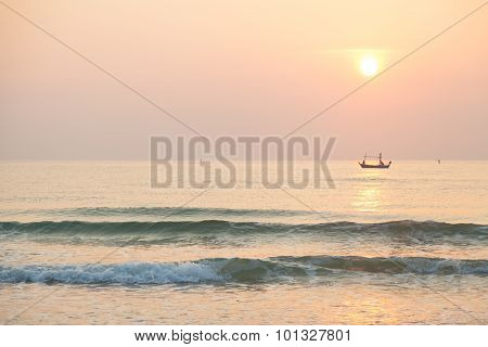 Morning Fishing Boat
