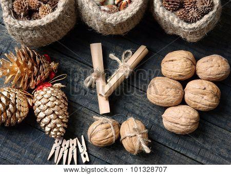 Ornamental, Xmas, Christmas Pine Cone, Handmade
