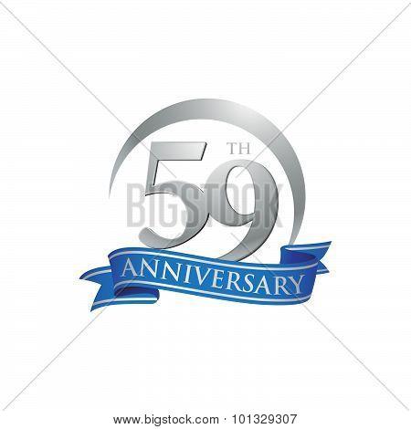 59th anniversary ring logo blue ribbon