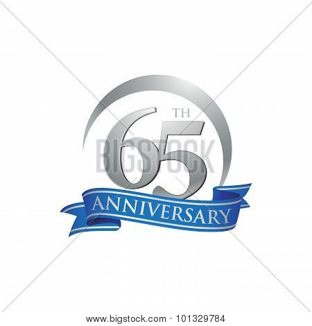 65th anniversary ring logo blue ribbon
