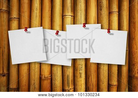 notes on bamboo background