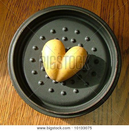 Papa en forma de un corazón de San Valentín