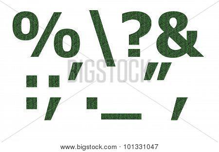 Matrix pattern on english character