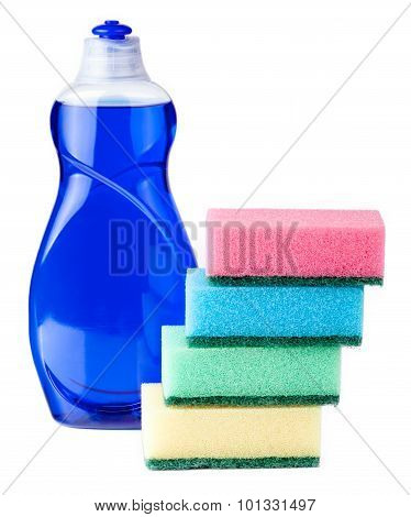 dish soap with sponges