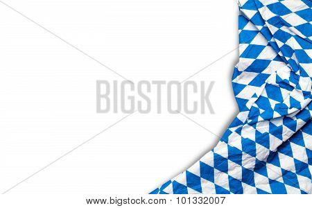 bavarian tablecloth on white background