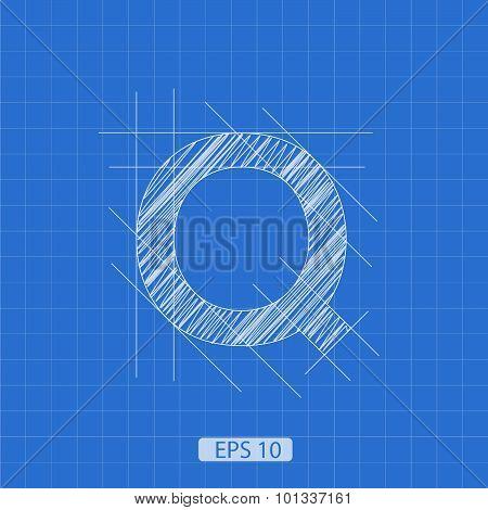 Q letter architectural plan
