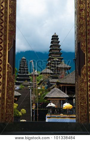 The Pura Besakih temple complex
