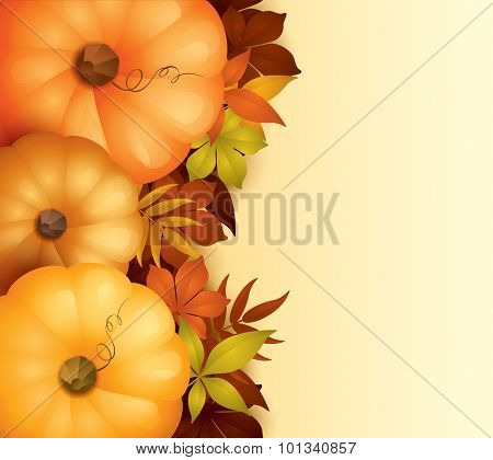 Thanksgiving background with copy space