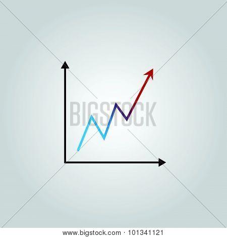 Infografic. Growing Graph Shows Profit.