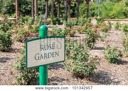 Sign For Rose Garden