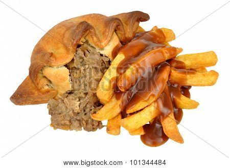 Pasty And Chips Meal With Gravy