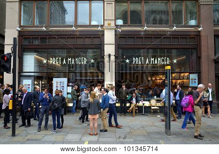 Pret A Manger Store in London
