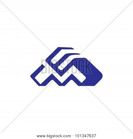 Sign Of The Letter M And E. Vector Illustration.