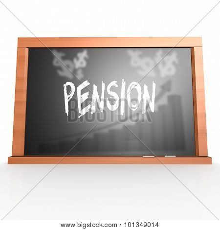 Black Board With Pension Word