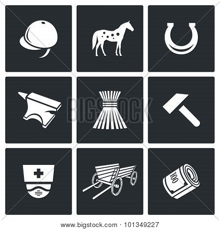 Stable Icons. Vector Illustration