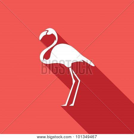 Flamingo Icon. Vector Illustration.