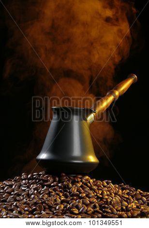 Coffee Pot And Smoke