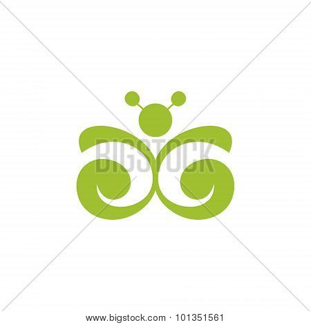 Butterfly Sign. Vector Illustration.
