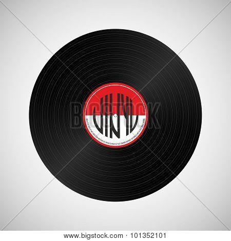 Gramophone Vinyl Disc On Light Background