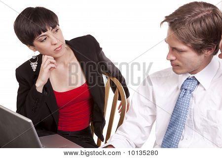 Looking At Man Computer