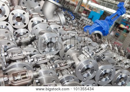 Industrial background from part of valves