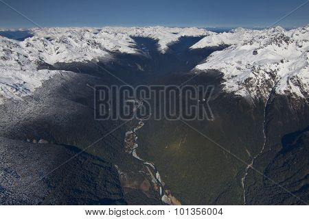Aerial View of Mountains in Queenstown