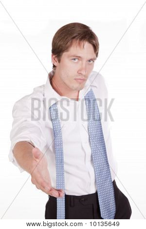Man Reaching For Hand