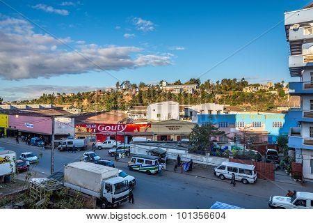 In The Streets Lower Town Of Fianarantsoa