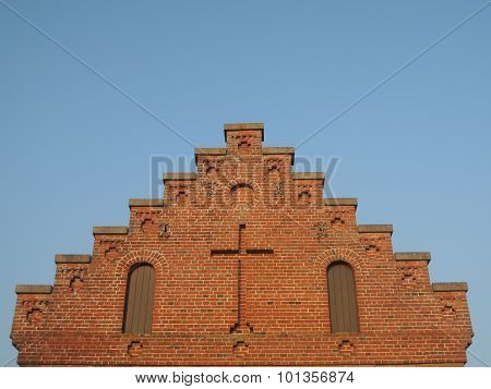 Stairway To Heaven - Gable Of Church With Cross
