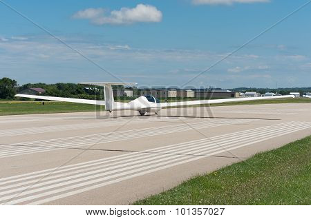 Glider On Runway In Faribault