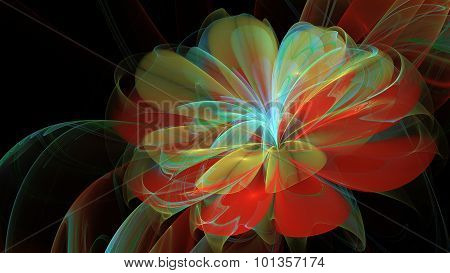 Abstract Magic Flower