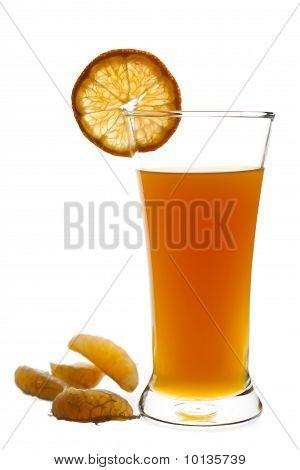 Glass Of Freshly Squeeze Orange Fruit Juice