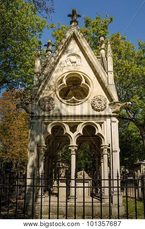 Tomb of Heloise and Abelard in the Pere Lachaise Cemetery