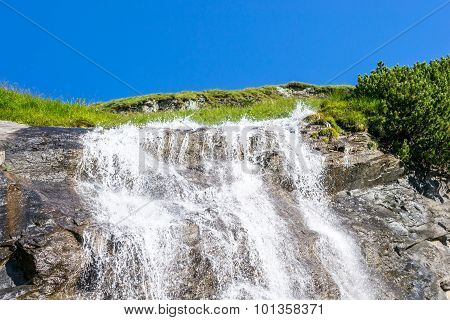 Waterfall With Grass All Around
