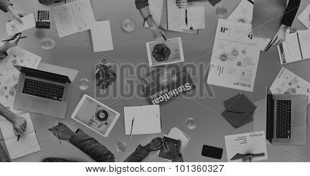 Group of Business People Discussing Business Issues Concept