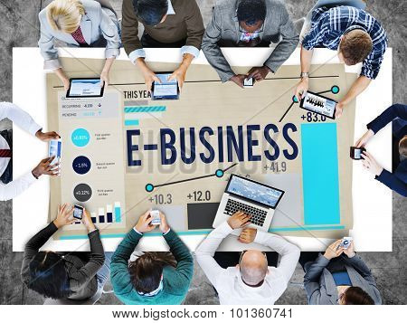 E-Business Global Communication E-Commerce Web Concept