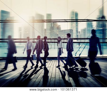 Business People Commuter Rush Hour Concept