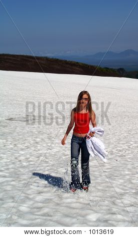 Girl In Snow Mountain