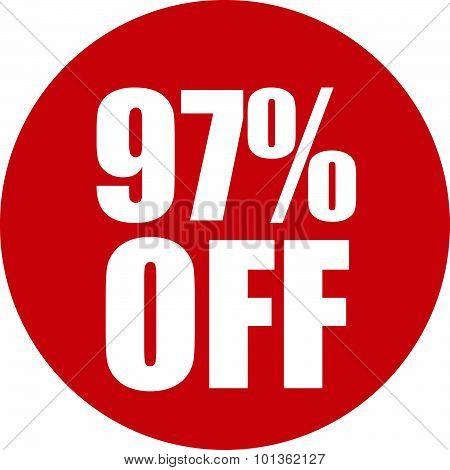 97 Percent Off Icon
