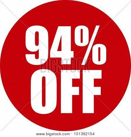 94 Percent Off Icon