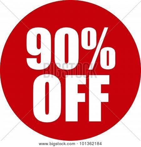 90 Percent Off Icon