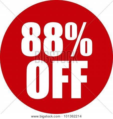 88 Percent Off Icon